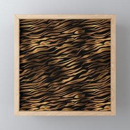 Gold and black metal tiger skin Framed Mini Art Print
