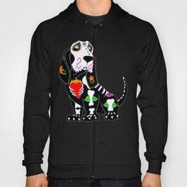 Basset Hound Sugar Skull Hoody