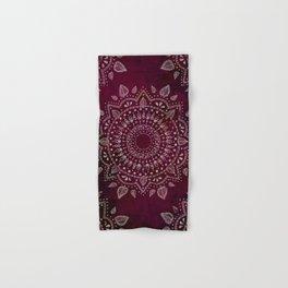 Wine Mandala Hand & Bath Towel