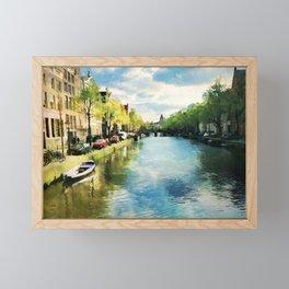 Amsterdam Waterways Framed Mini Art Print