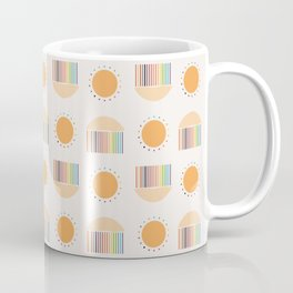 Sun and Rain Illustration Coffee Mug