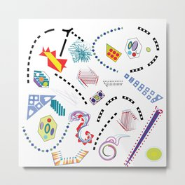 Typography in Design-Toy Pattern Metal Print