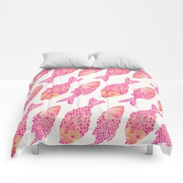 Indonesian Fish Duo – Pink Palette Comforters