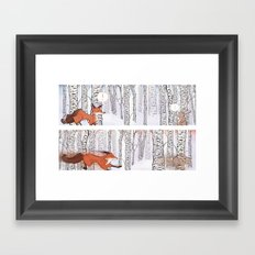 A Winter Race Framed Art Print
