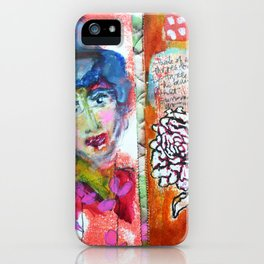 Blue Haired Lady iPhone Case