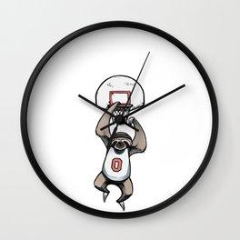 Sloth Dunk Wall Clock