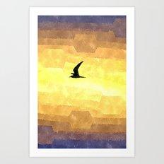 Abstract Seagull Flight Art Print