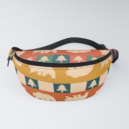 Multicolored bear pattern Fanny Pack