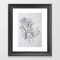 Blue Daisy Framed Art Print