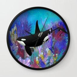 Under The Sea Oraca Killer Whale Wall Clock