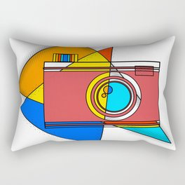 Retro Camera Rectangular Pillow