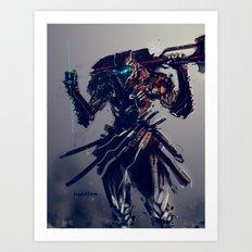Triblade Art Print
