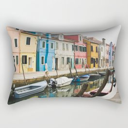 Burano in winter III Rectangular Pillow