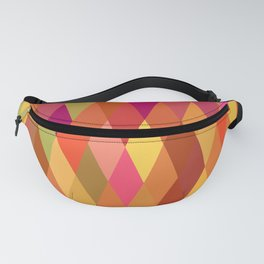 Summer Heat Harlequin Abstract Geometric Fanny Pack