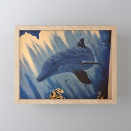 Dolphin Framed Mini Art Print