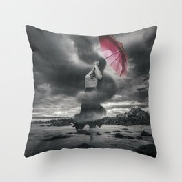 Storm Clouds Gather Throw Pillow
