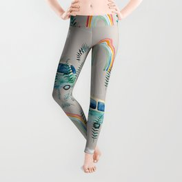 watercolor boheme rainbow bus  Leggings