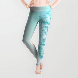 Turquoise Blush Ocean Dream #1 #water #decor #art #society6 Leggings