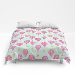 Pink Balloons Comforters