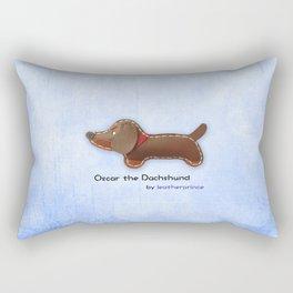 Oscar the Dachshund by leatherprince Rectangular Pillow