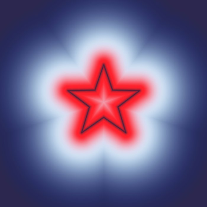 Red White and Blue Star Comforters
