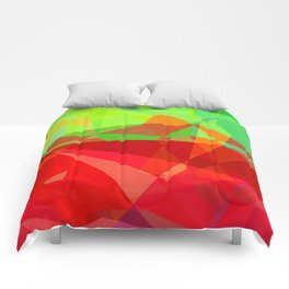 Mixed Color Poinsettias 2 Abstract Polygons 3 Comforters