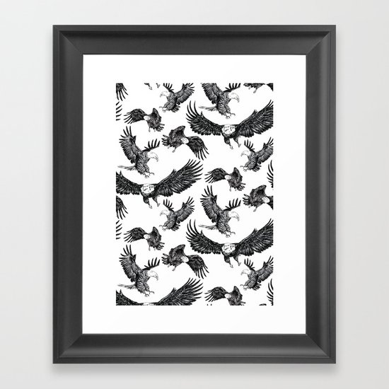 Eagles Pattern Framed Art Print
