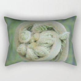 Furled Fern Soon to Unfurl Rectangular Pillow