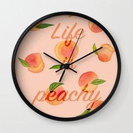Life is peachy print Wall Clock