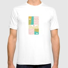 Eye On The City White Mens Fitted Tee MEDIUM