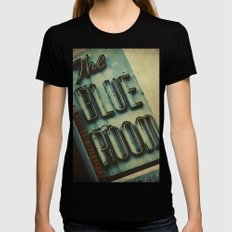 Blue Room Neon Sign Womens Fitted Tee Black LARGE