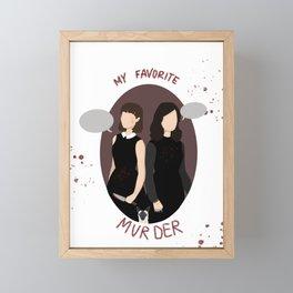 My Favorite MUUUUUUUrder Framed Mini Art Print