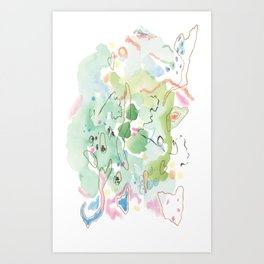 Green Pike Art Print
