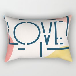 Pieces Of Love #society6 #love Rectangular Pillow
