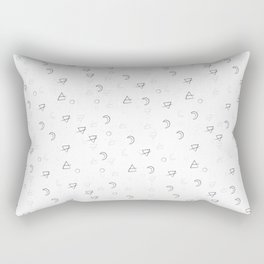Minimal Pattern :: White Triangle Moon Rectangular Pillow