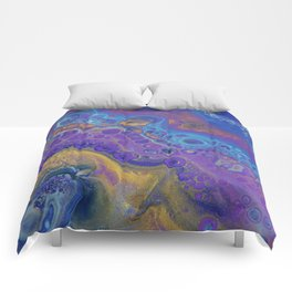 Gemstone Tides - Abstract Acrylic Art by Fluid Nature Comforters