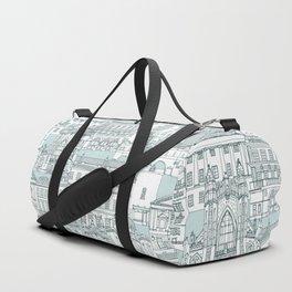 Bath toile pine mint Duffle Bag