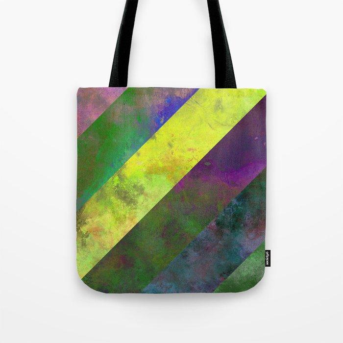 45 Degrees - Abstract, textured, diagonal stripes Tote Bag