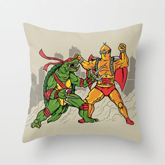 Teenage Mutant Gamera Ninja Throw Pillow