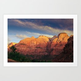 Zion Sunrise Art Print