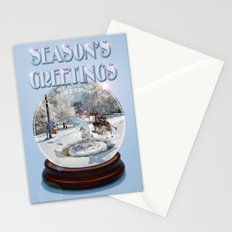Blue Christmas Greeting Card Stationery Cards