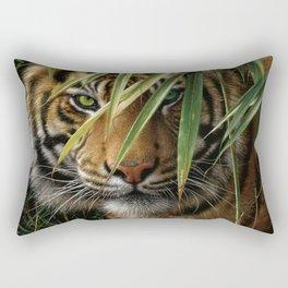 Tiger - Emerald Forest Rectangular Pillow