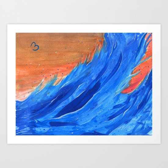 Waves in the Wind Art Print
