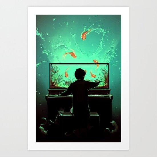 Le Pianoquarium Art Print