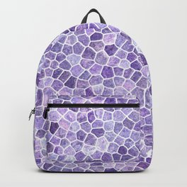 Lilac Cobbled Patchwork Terrazo Pattern Backpack