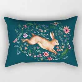 Rabbit in the woods Rectangular Pillow
