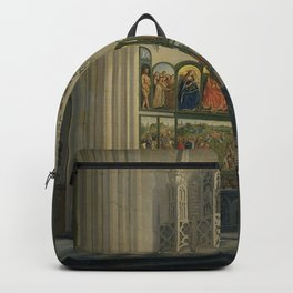 Pierre François De Noter - The Ghent Altarpiece by the van Eyck Brothers in St Bavo Cathedral in Ghe Backpack