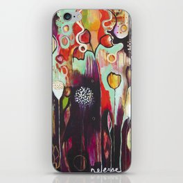 """""""Release Become"""" Original Painting by Flora Bowley iPhone Skin"""