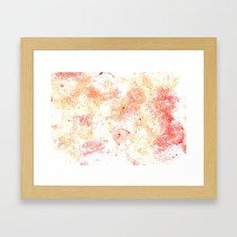 Warm bubbles Framed Art Print