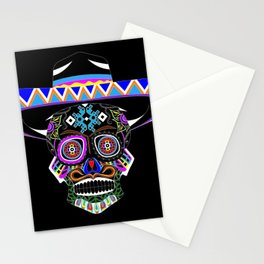 mariachi skull ecopop Stationery Cards